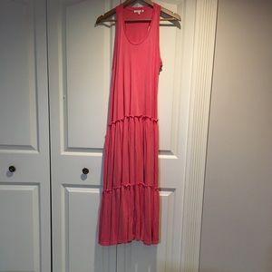 Sundry Pink Tiered Sleeveless Summer Dress Size 0